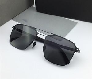 Novo Mykita Sunglasses Flood Pilot Frame com lente espelho ultra luz quadro memória liga óculos de sol fresco design ao ar livre com caixa original