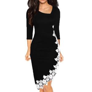 JAYCOSIN legere Kleidung Frauen-elegante Oodji Dame-Frühling-unregelmäßiger Rand Enger elegante Partei Sundress Vestido De Festa Großhandel