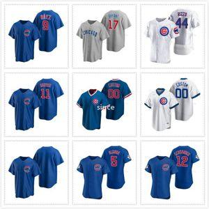 9 Javier Baez Chicago beyzbol formaları Cubs Anthony Rizzo Kris Bryant Yu Derviş Koleksiyonu Özel 2020 Yeni Sezon Jersey Erkek Dikişli
