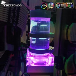 FREEZEMOD RGB Water Tank One-piece Reservoir With Pump 800L H Integrated PWM speed control head 4 Meters Flow MOD Watercooler