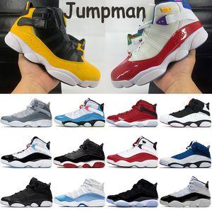 playa del Sur 6 6s anillos de baloncesto zapatos zapatillas de deporte jumpman multicolor luz blanca cibernética furia azul UNC taxis Concord confeti gym hombres zapatos rojos
