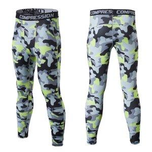 Camouflage Sporting 2020 collant a compressione che eseguono i bambini delle ghette delle calzamaglia degli uomini dei pantaloni di forma fisica di ginnastica pelli formazione L esecuzione