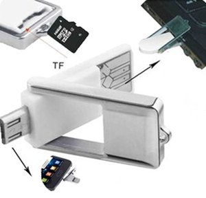 Universal Aluminum Micro USB OTG Micro SD TF Card Reader Phone Extension Headers Micro USB OTG Adapter For Android