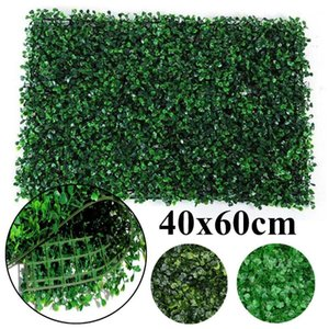 60x40cm Boxwood Hedge Artificial Plants Mat Privacy Fence Screen Faux Greenery Wall Panel Decorative Suitable for Outdoor Indoor