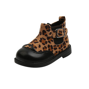 2020 new Winter leopard baby boots baby girl shoes girls boots Martin boots baby shoes toddler shoes princess ankle boot retail B2733