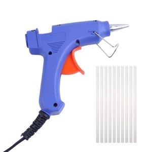 Hot Melt Klebepistole 20W US / EU Stecker Industrie Mini Guns Elektro Gluegun Heiztemperatur Werkzeug-Reparatur-Werkzeuge mit 32pcs Klebestifte