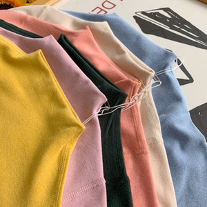 New simple half-high collar bottoming autumn clothes girls tops autumn girls wearing cotton comfortable inner wear k9101
