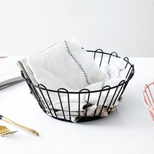 2020Hot Desktop Snacks Candy Fruit Basket Kitchen Creative Iron Storage Drainer Fruit Plate Vegetables Organizer Washing Baskets