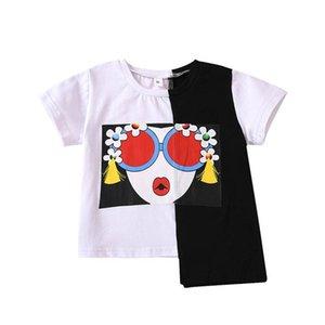 INS Summer baby girls T shirt cotton short sleeve kids T-Shirt Toddler Tee Shirt Fashion baby girl clothes girls shirt wholesale B2124