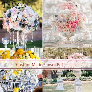 TXMON disposizione tavolo di nozze fiore tabella principale puntelli simulazione strada floreale piombo palla matrimonio decorazione dell'hotel