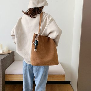Style Coréen 2020 Nouvelle Corduroy Simple Single-épaule Sac bandoulière Femme Harajuku Chic étudiant Cartable