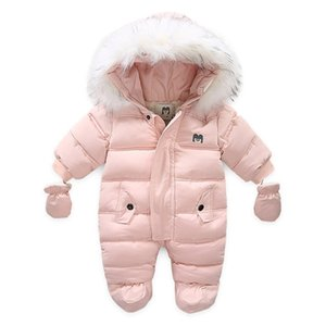 New arrival fashion Newborn baby winter clothes Unisex Hooded Long sleeve Down snow snowsuits jackets baby girl boy Romper coat