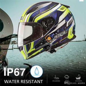 Rádio Motorbike Pro Motos Original Fm Intercomunicador Headset Intercom Moto Wireless Helmet Capacete Bluetooth 1000m Bt-s2 waterp bbyyM