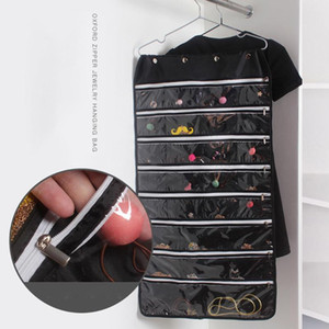 1Pc Hanging Storage Bag Non-woven Earrings Jewelry Chains Dress Holder Organizer Storage Bag Hanger Dropshipping Best Selling
