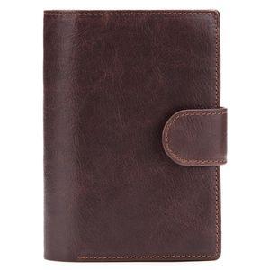 Men Retro Wallets Genuine Leather Purse Passport Handbag Wallet Multi-function Large Capacity Short Paragraph Billetera Mujer