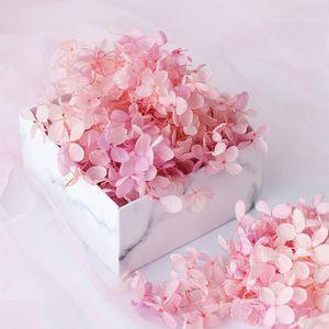 20g Natural Fresh Flowers preservadas secas Partido Material do casamento Vida Hydrangea Cabeça de Flor Para DIY real Eterno Flowers Decor T200103