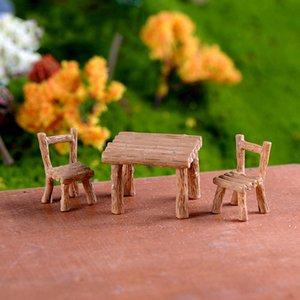 INKANEAR Mini bureau / Chaises Jouets Résine Artisanat Micro Fée Jardin Miniature / Terrarium Meubles Ornements Accessoires