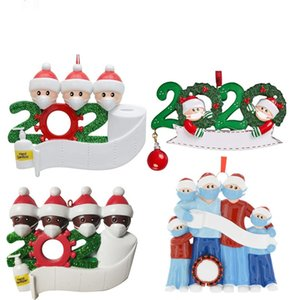 2020 Merry Christmas Trees Pendant Birthdays Party Santa Claus Design Personalized Family Of 2-7 Pendent Pandemic Social Distancing D91103