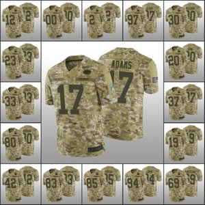 Baia VerdePackersMen # 12 Aaron Rodgers 33 Aaron Jones 2 Crosby personalizzati donne della gioventùNFL Camo Salute to Service Limited Jersey
