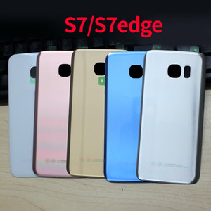 50pcs lot SAMSUNG Galaxy S7 Edge G930F G930 G935F Back Glass Battery Cover Rear Housing Replacement Waterproof glue camera frame