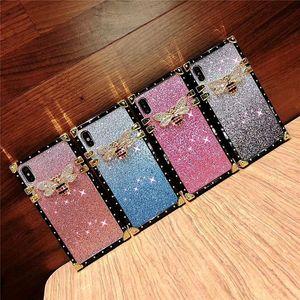 Glitter Bling Luxury Designer Premium Rhinestone Bee Gradient Women Defender Phone Case For iPhone 11PRO XR X XS MAX 6S 8 7 Plus