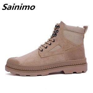 Explosive Models High-top Casual Men's Shoes Breathable Shoes For Men Botas Masculine Boot Zapatos De Hombre Botas Hombre