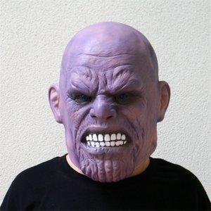 Война Делюкс Танос Gauntlet Перчатки Бесконечности Косплей фильм Латекс Halloween Party Mask Prop Set