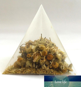 5.5 * 7cm biodegradabile non tessuto piramide Bustina di tè bustina di filtri di nylon String singolo con etichetta Trasparenti Bustine di tè vuote