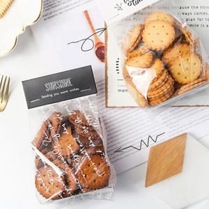 50PCS حلوى الزفاف كوكي هدية حقيبة الذاتي حامل حامل كب كيك البسكويت اليدوية عيد الميلاد أكياس بلاستيكية التعبئة والتغليف