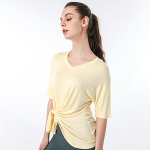 Women Yoga Clothes Quick Dry Fitness Pilates Tops Loose T shirt Gym Workout Bra Running Sportswear Yoga Exercise Suit for Madam