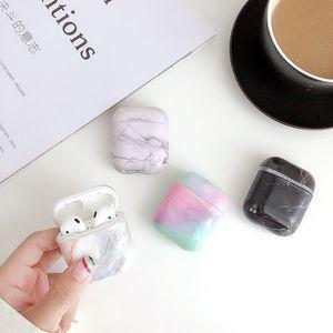 2020 Hot Vente luxe Earphone cas pour AirPod 2 1 Box Charging Cases Motif en marbre Apple AirPod antichocs Pour Air pods Cover Pro