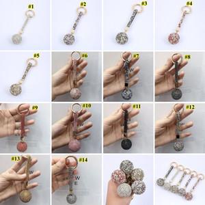 Алмазного брелок Shiny Crystal Ball Key Ring Полной Дрель ключ автомобиль Пряжка брелок кольцо ремень Женщина Шарм Подвеска украшение GWE1811