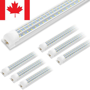 Stock In Canada + Integrated 8ft led t8 tubes Light 90W D Shape 3 Lines Chip T8 Replace regular Tube AC100-305V 10-pack