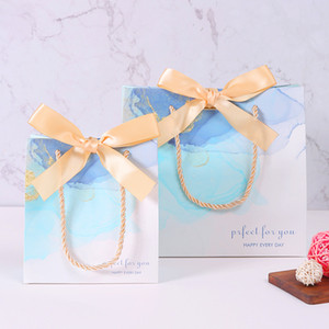 Nordic INS wind marble gift bag 10pcs Birthday Party Decorations Thank you bags customizable Wedding Favors for Guests