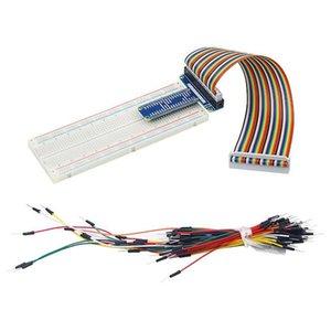 Дешевые Board Demo аксессуары GPIO Board Extension MB-102 830 точек Макетная 40 Pin GPIO Кабель соединительный кабель для Оранжевой Pi