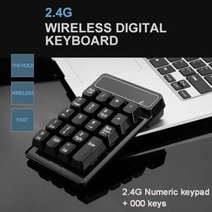 2 .4g sem fio Mini teclado numérico teclado USB Mecânica Digital 19 Chaves Ultra Slim Pad número Para Financial Mac Calcular Pc Laptop