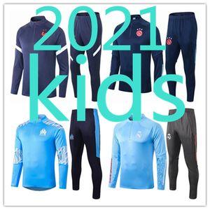 kids football kits 20 21 soccer jersey 2020 2021 tracksuit training ajax  maillot olympique de marseille survêtement survetement chándal