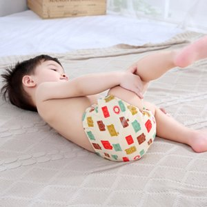 2PC cloth diapers baby Washable Cotton Training Pants Panties Baby Diaper Reusable Cloth Nappie Infants Children Underwear Nappy