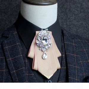 Multilayered Ribbon Diamond Bow-tie For Men's Business Suits Bow Ties Men Bow Tie groom's Clothing Accessories Suits Bowtie