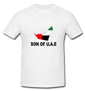 Hijo de Emiratos Árabes Unidos UAE U.A.E Nacional a la Bandera Mapa camiseta blanca