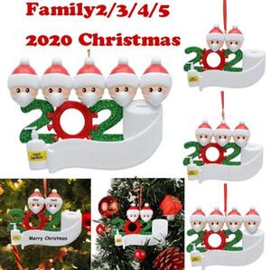 2020 Yeni Yıl Resim Dekorasyon Noel Ağaçları için Reçine Baubles Süsler El Saniyeler Ile Süsler Karantina Hatıra Eşyası