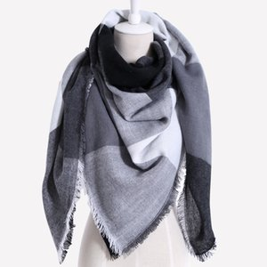 Drop shipping 2020 Winter Scarf Women Plaid Cashmere Triangle Women Scarf Warm wrap Shawls and Scarves