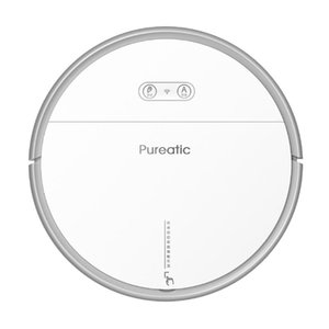 Pureatic Smart Vacuum Cleaner Robot Sweep Wet Mop Wireless For Floors Carpet Thin Automatically Charge APP Control White Black
