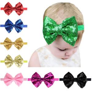 Enfants Sequins Bandeau Bande Boutique Baby Girl Bandeau Elastique Bandeau Bandes Baby Girl Pequeque Soupins Brillant Cheveux Bows Nœud Accessoires CNY1081