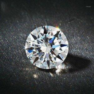 D Cor Super redondo branco americano importado Moissanite nua diamante Carat diamante 18K ouro PT950 anel colar Inlay1 Yugn #