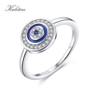 KALETINE Luxury 925 Серебряное кольцо Лаки Синий камень сглаза Кольца для женщин Blue Stone Wedding Турецкий Мужские ювелирные изделия