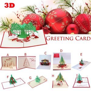 3D Innovative Christmas Card Three-dimensional Valentine's Day Lover Happy Birthday Party Invitation Folding Type Greeting Card