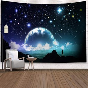Tapestry Wall Hanging Natural Scenery 3D Psychedelic Star Constellation Galaxy Space Indian Bohemian Boho Hippie Yoga Tapestries Beach Throw