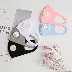 Yıkanabilir Yeniden kullanılabilir Buz İpek Pamuk Moda Tasarımcısı Maskeler OOA9027 Valve Anti Dust Bisiklet Koruyucu Maskeler Nefes ile Unisex Yüz Maskesi