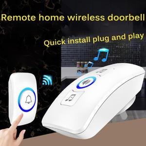 Home Welcome Doorbell Wireless Doorbell Waterproof 150M Remote UK Plug Smart Door Bell Chime Long-Distance Waterproof Music Bell